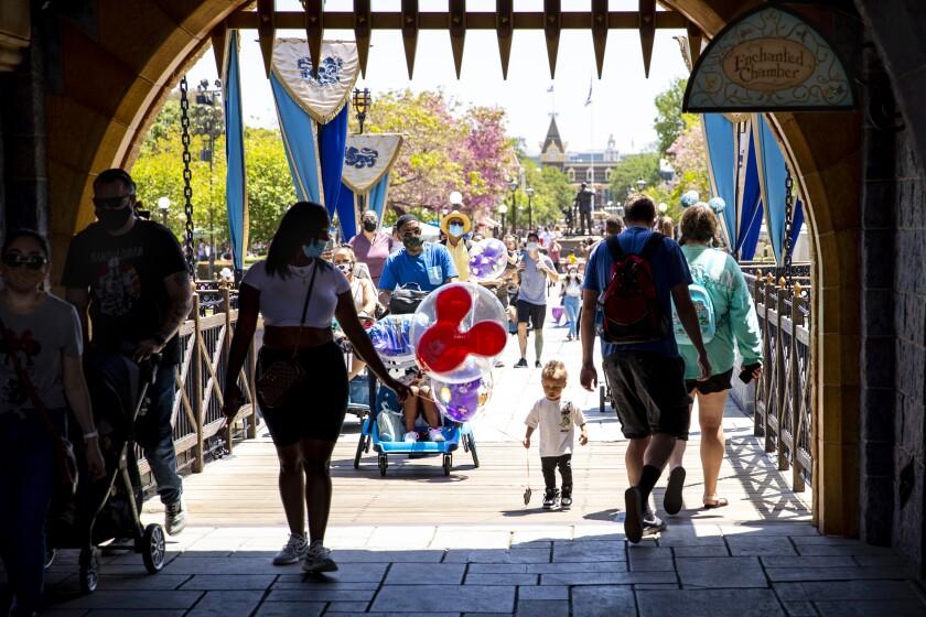Visitors at Disneyland