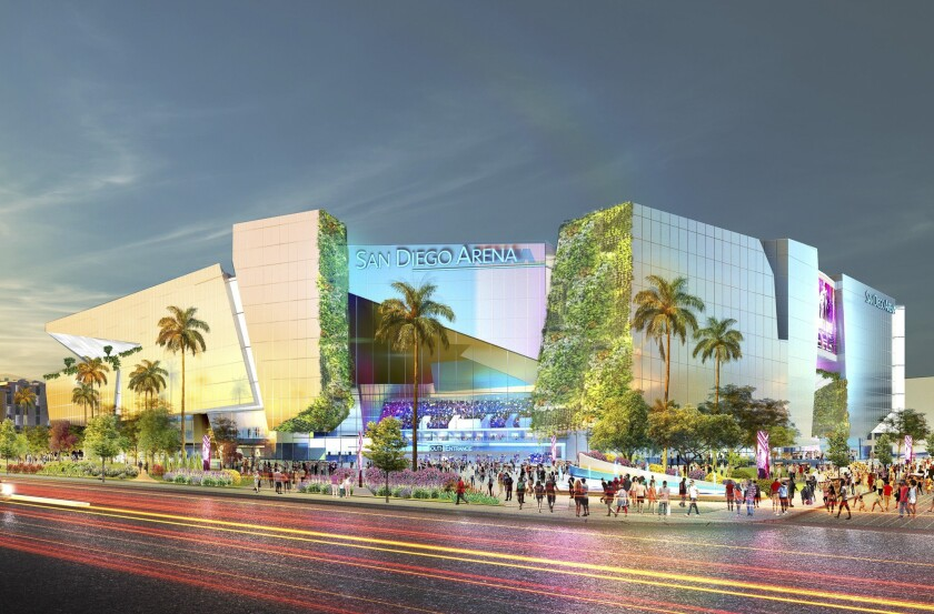 Artistic rendering of the San Diego Arena.