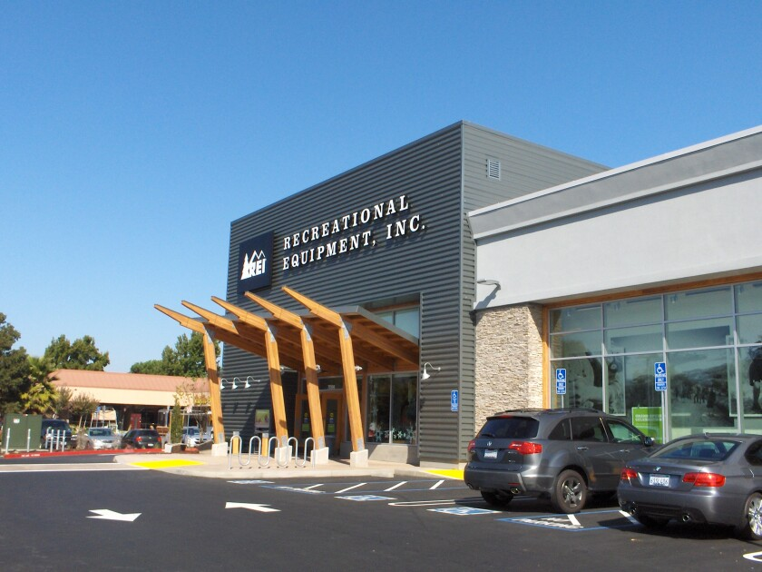 An REI storefront in Dublin, Ohio. The retailer hasn't yet released details about the Santa Cruz store's design.