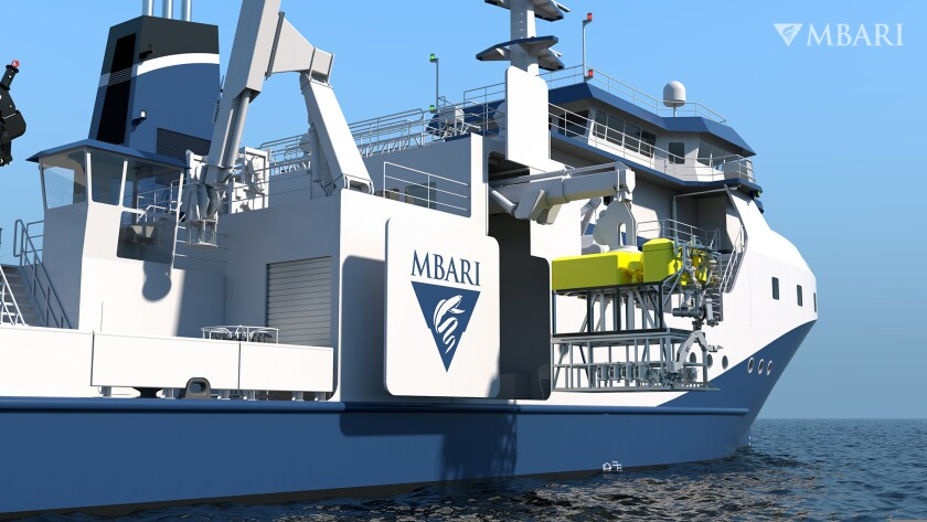 An artist's rendering of the Monterey Bay Aquarium Research Institute's new vessel