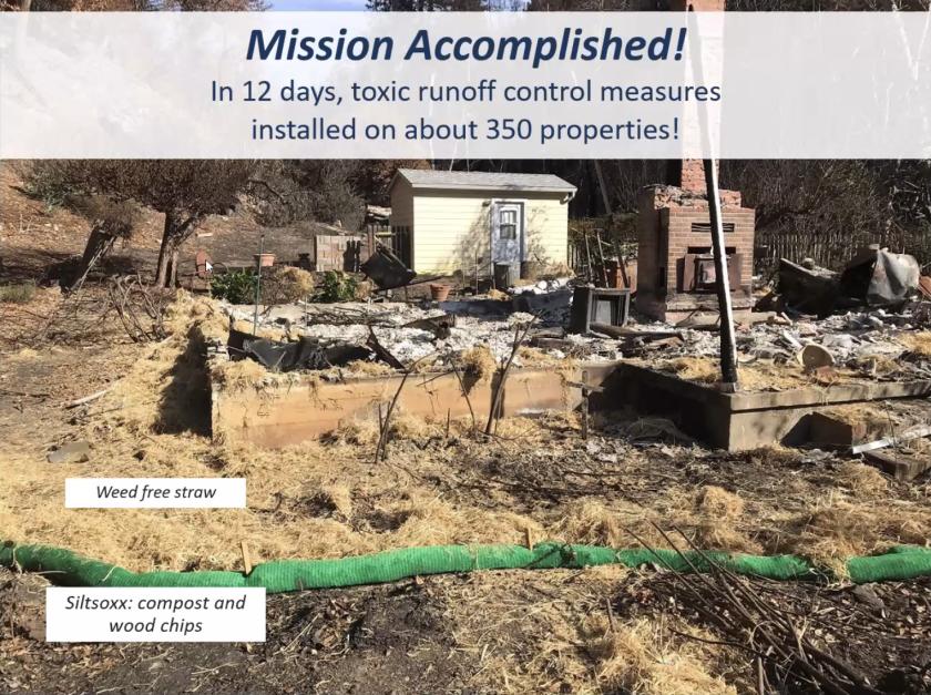 A summary of toxic runoff efforts led by Santa Cruz County post-fire.