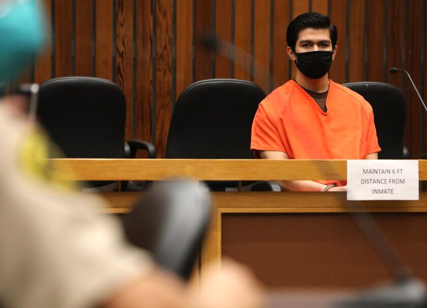 Adrian Gonzalez in court during his sentencing Tuesday for the 2015 killing of Madyson Middleton