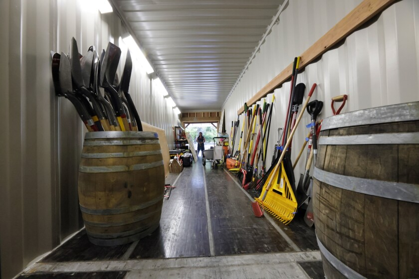 Inside the Community Tool Shed in Boulder Creek