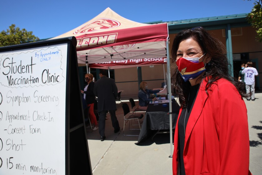 Tanya Krause, superintendent of the Scotts Valley Unified School District,