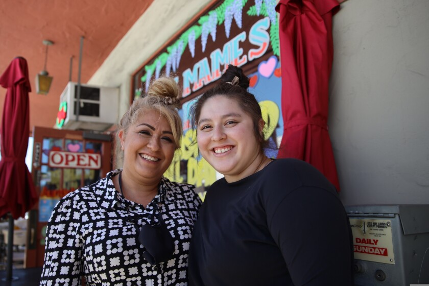Mother and owner Norma Corona and daughter Ashley Garcia of Auntie Mame's.