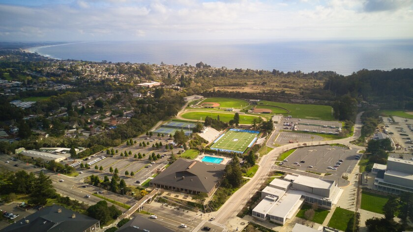 Cabrillo College as seen from above.
