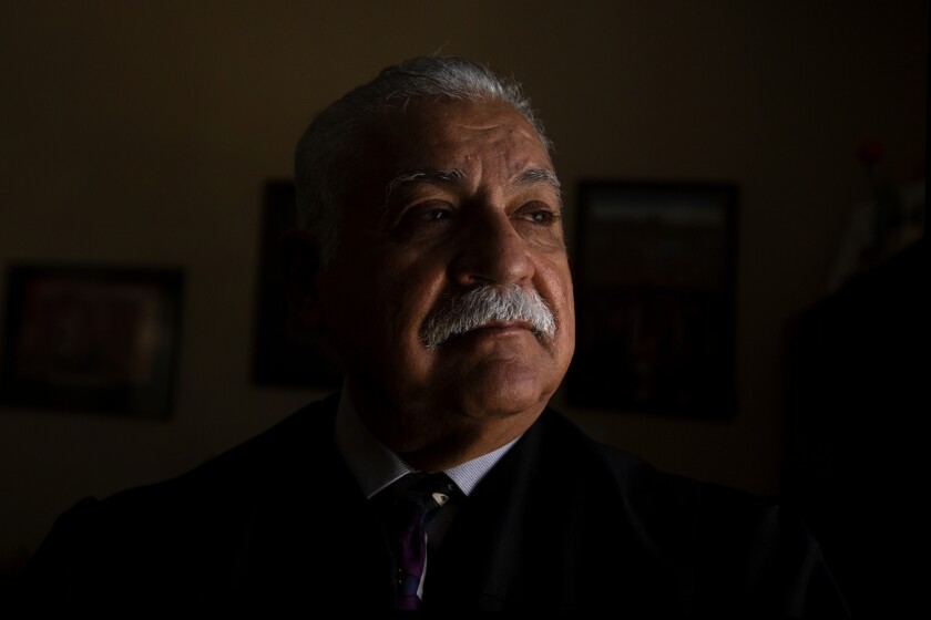 Judge Juan Ulloa in his chambers at the Imperial County Superior Court. Photo by Shae Hammond for CalMatters