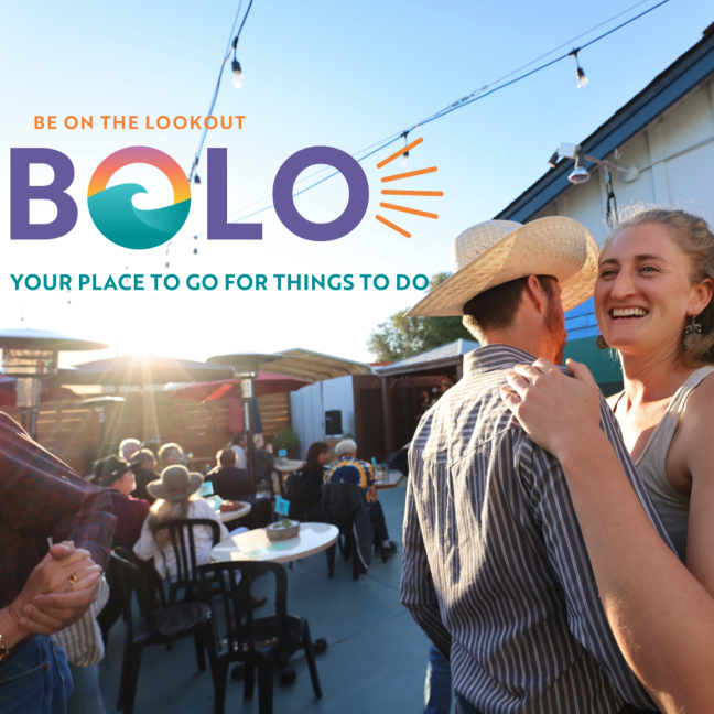 BOLO events calendar logo with people dancing