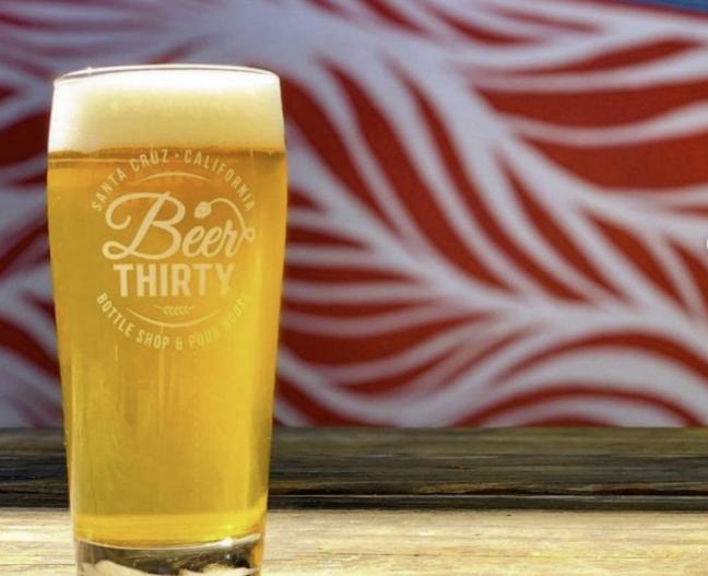 A pint at Beer Thirty.