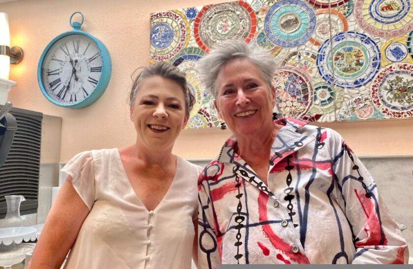 Carol Longbrake and owner Gayle Ortiz.