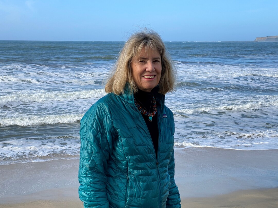 Susan Hansch enjoys going for long walks along the coast of Half Moon Bay, where she lives with her husband.