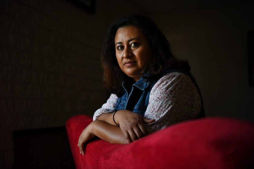 CONCORD, CA – Aleida Ramirez sits at her home in Concord, Calif., on Monday, Nov. 9, 2020. Photo by Jose Carlos Fajardo for Bay Area News Group