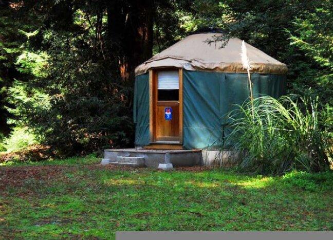 A yurt at Land of the Medicine Buddha.