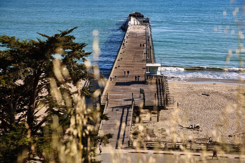 Pier access suddenly reemerged this past weekend at Seacliff.