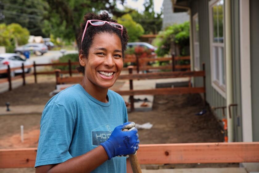 Soon-to-be homeowner Kali Campbell, a math teacher at Santa Cruz High.