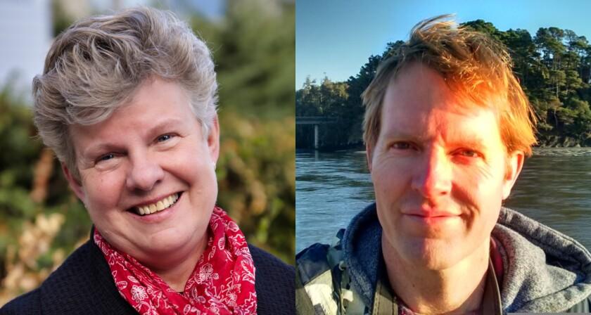 Santa Cruz County Health Officer Gail Newel and UC Santa Cruz epidemiologist Marm Kilpatrick.