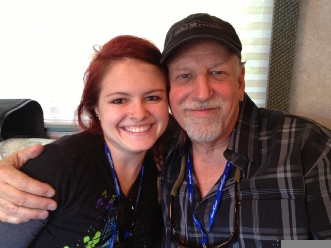 Bill Welch (right) with singer/songwriter and neighbor Tess Dunn.