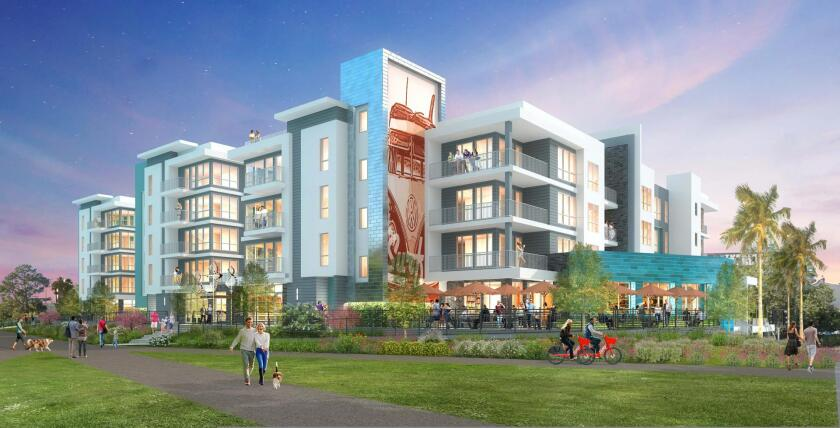 A rendering of the proposed Front Street Apartments pitched for 530 Front St. in Santa Cruz.