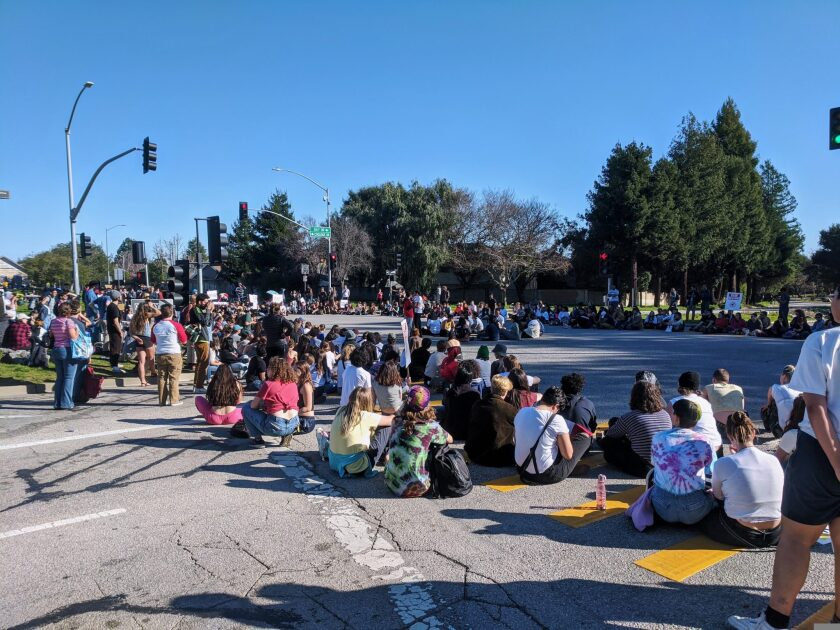 Striking UCSC graduate students.