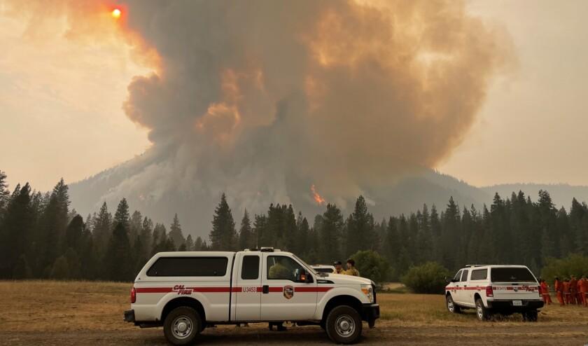 The Dixie fire burns near Morgan Springs.