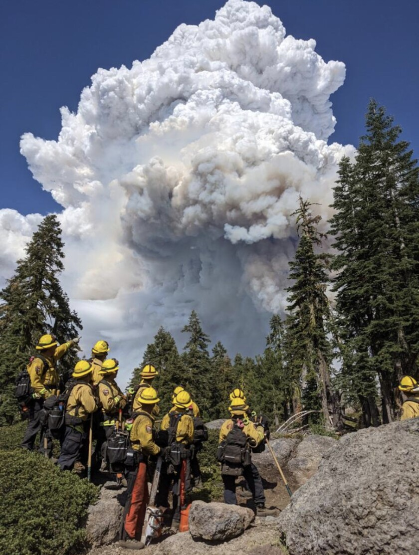 An image of the Dixie fire from Cal Fire SCU Unit