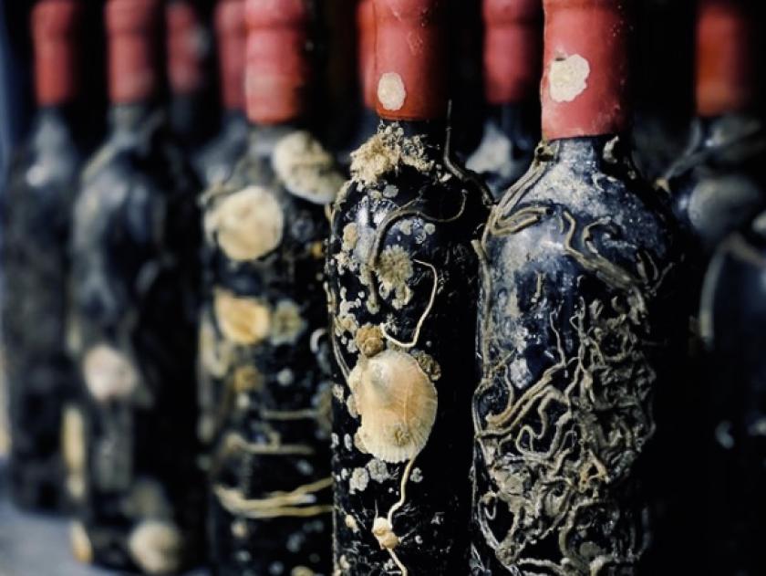 Bottles of Cabarnet from Ocean Fathoms.