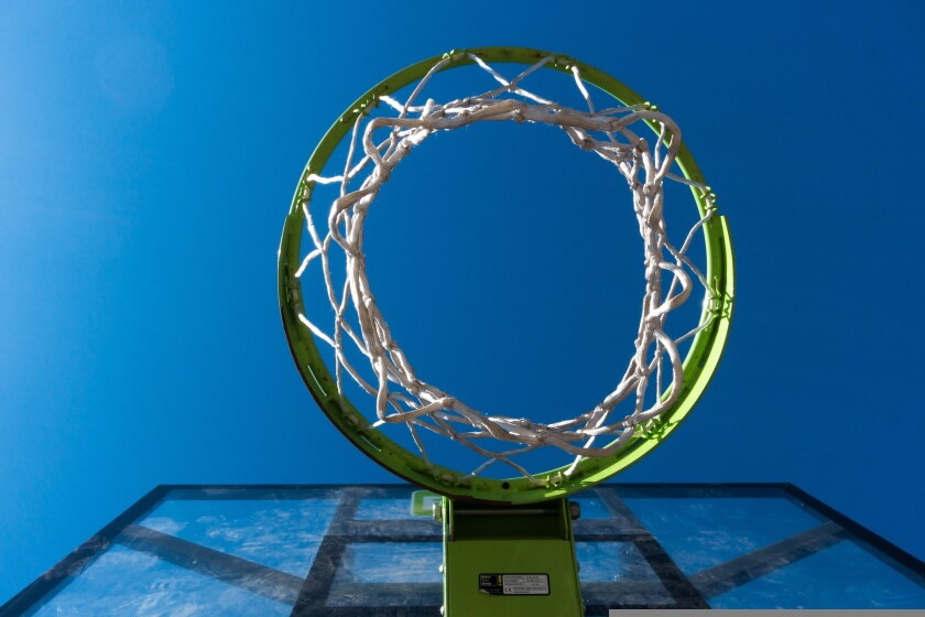 A basketball hoop