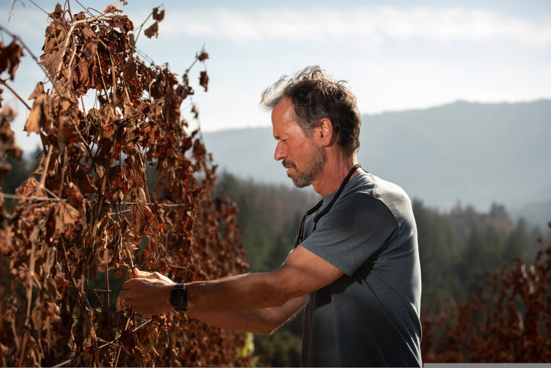 Bradley Brown of Big Basin Vineyards saw the most direct damage from the CZU Lightning Complex fire.