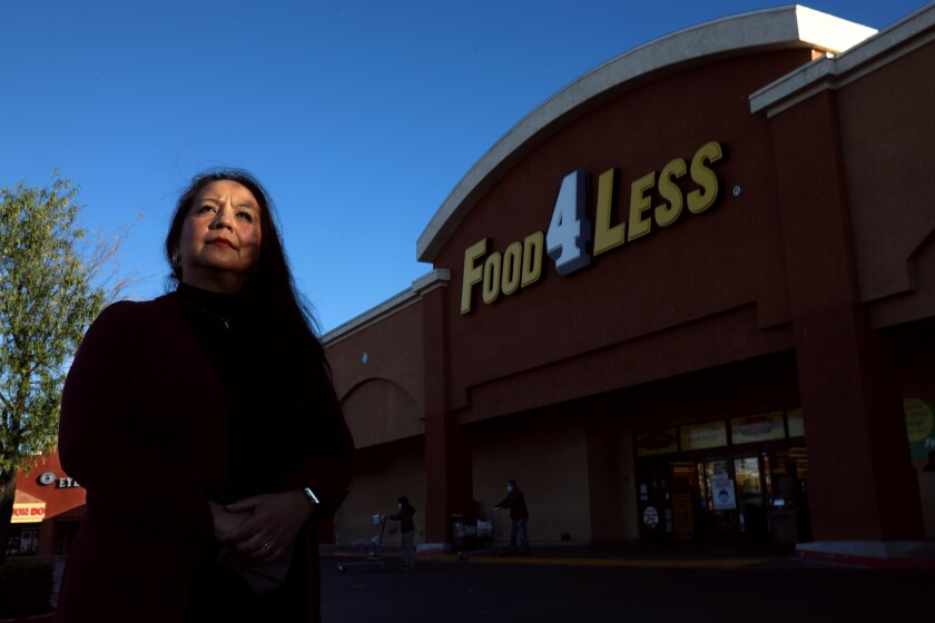Norma Leiva, 51, is a warehouse manager for Food 4 Less.