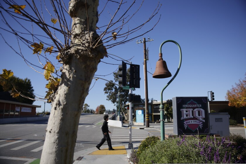 An historic mission bell in Santa Cruz