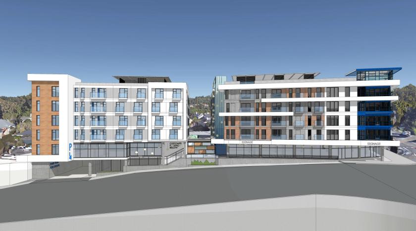 Rendering of 831 Water Street development.