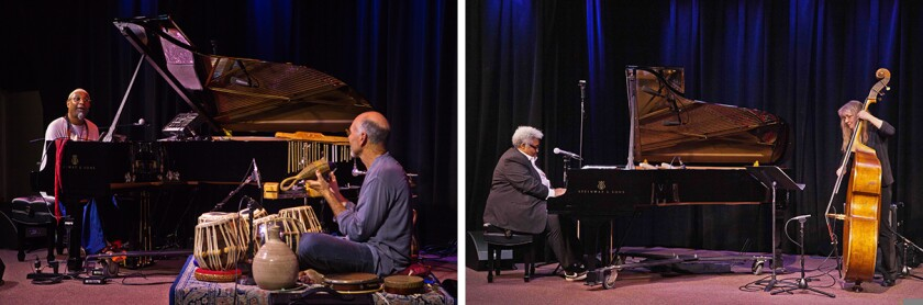 Mondays with Kuumbwa performances include: Omar Sosa and Steve Robertson (left) and Tammi Hall and Ruth Davies (right).