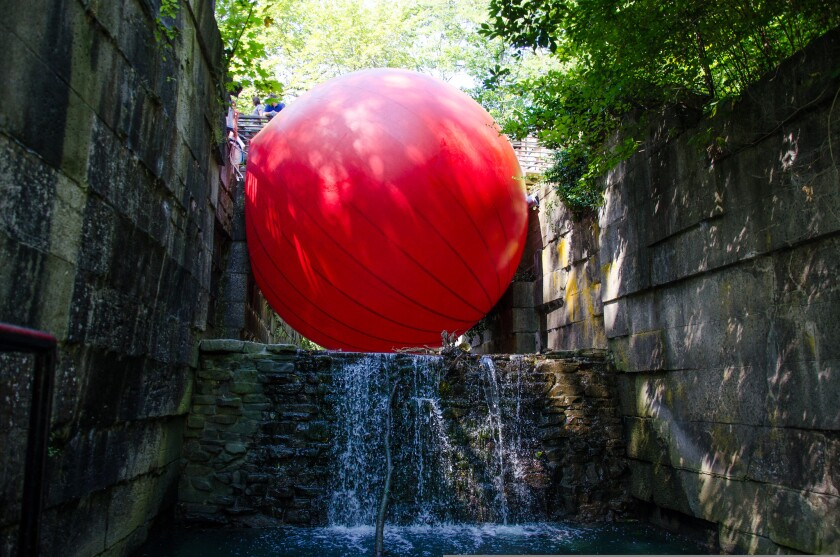 Redball Project by Kurt Perschke; photo courtesy of the artist.