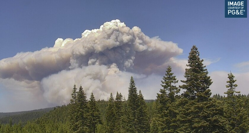 The Dixie fire grew to more than 103,000 acres Wednesday.