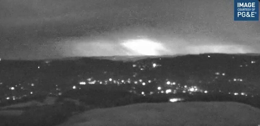 A lightning storm seen from Sonoma Mountain