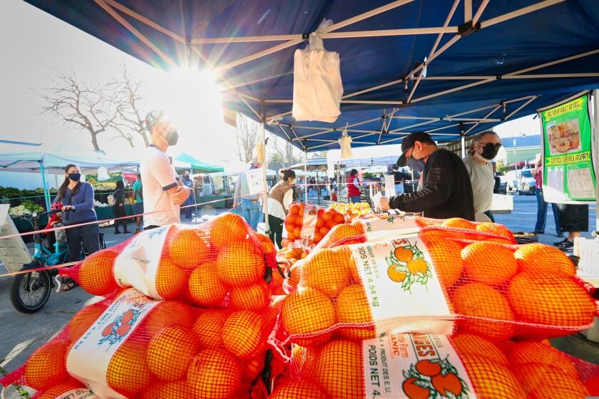 The downtown Santa Cruz farmers market.