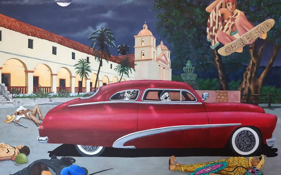 Huitzlipotzli by Ralph James D'Oliveira, part of the on-line exhibit Califas Legacy Project, beginning today.