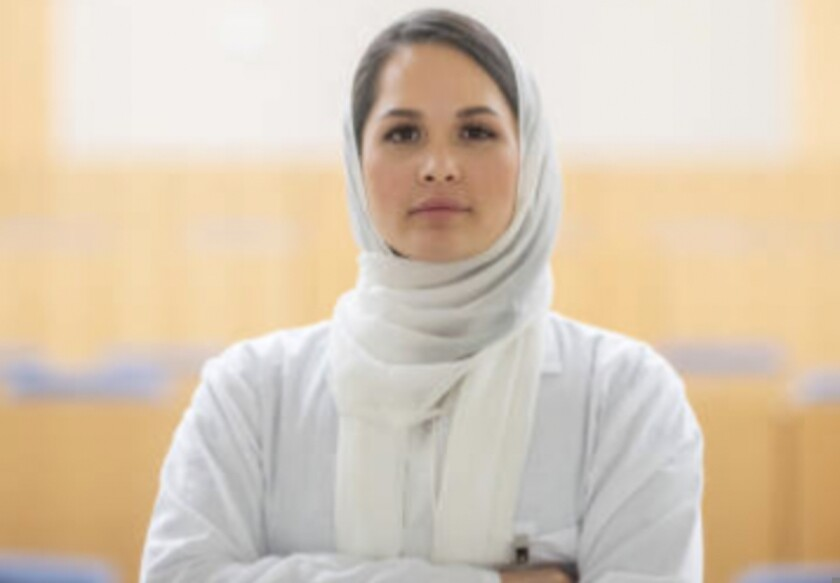 A female scholar from Afghanistan
