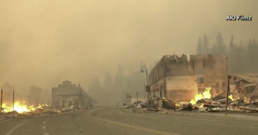 The town of Greenville was destroyed in around three hours by California's largest active wildfire.