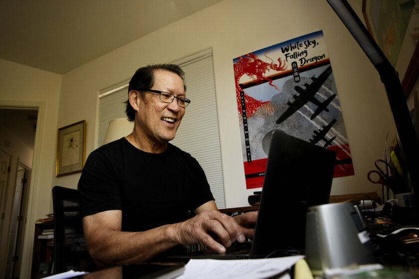 Spike Wong at work in his home office.
