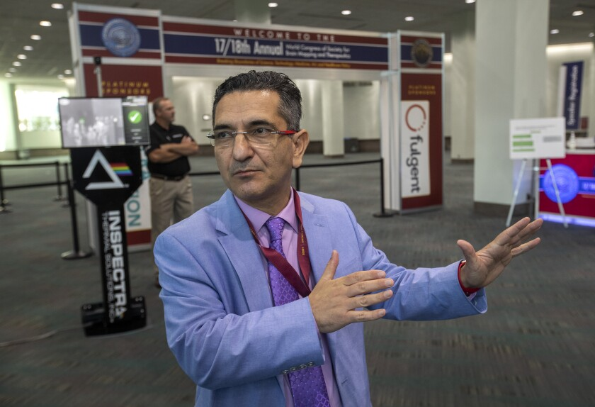 Babak Kateb at the Society for Brain Mapping and Therapeutics convention