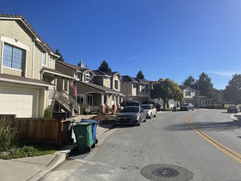 A neighborhood near Skypark in Scotts Valley.