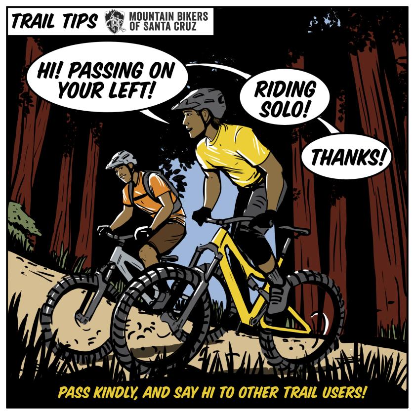 Mountain bike safety cartoon