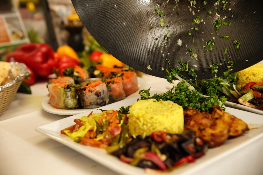 Pearl of the Ocean uses fresh, farmers' market-sourced plant-based ingredients.