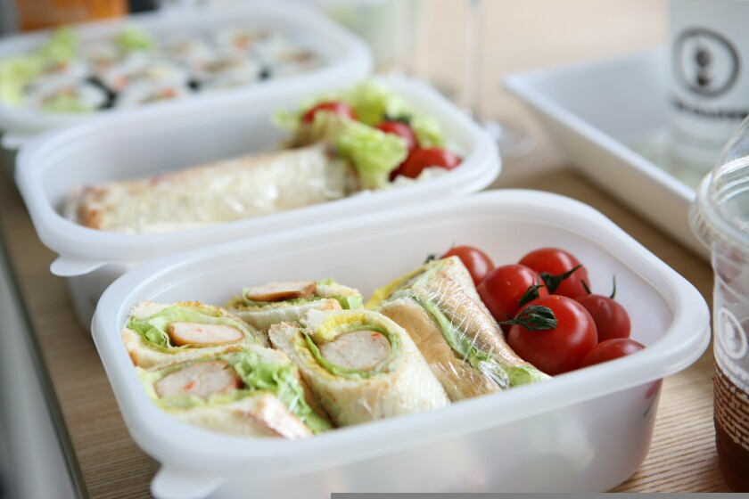 File image of lunch boxes