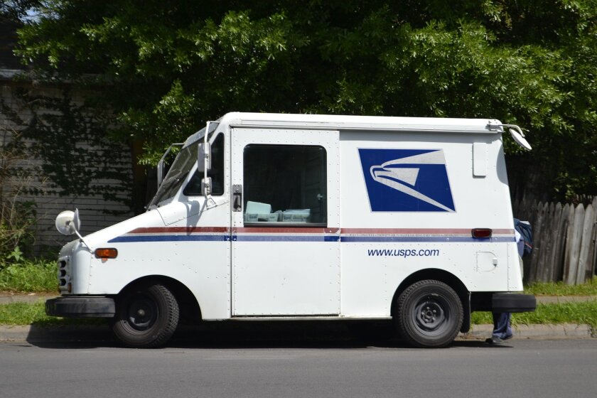Mail on a conveyor.