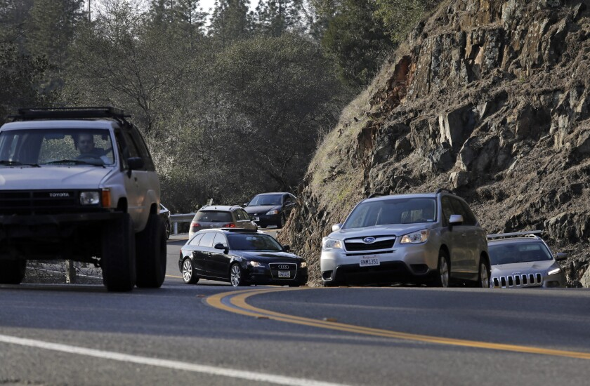 Highway 49 has been overwhelmed with traffic in recent years.(Myung J. Chun / Los Angeles Times )