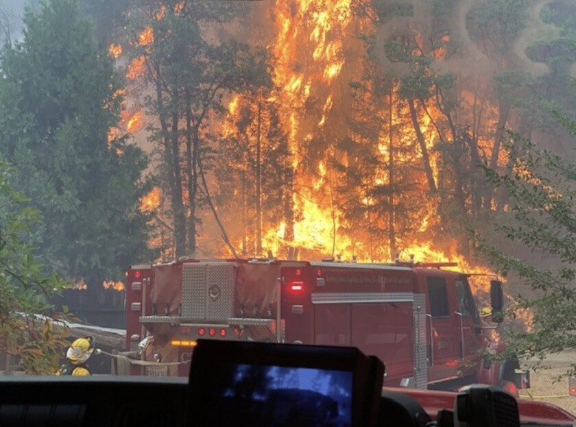 Personnel from the Santa Cruz Fire Department have been on the front lines of the Dixie fire.