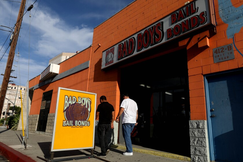 Bad Boys Bail Bonds is located across the street from the Los Angeles County Jail