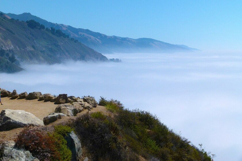 Fog rolls in on the California coast